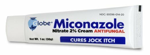 Miconazole Nitrate 2% Antifungal Cream for Athletes Foot & J