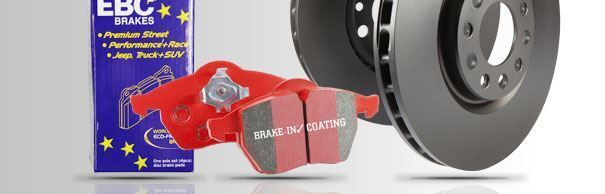 PD02KR233 EBC Rear Brake Kit Redstuff Pads & Standard Discs
