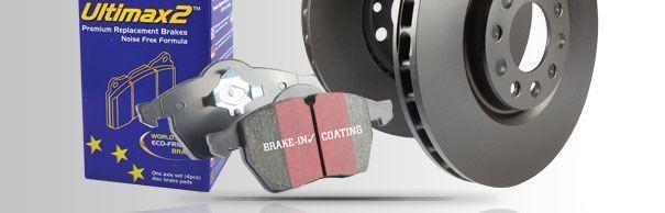 PD40K1076 EBC Front & Rear Brake Kit Ultimax Pads & Standard Discs