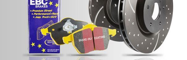 PD13KR273 EBC Rear Brake Kit Yellowstuff Pads & Grooved Discs