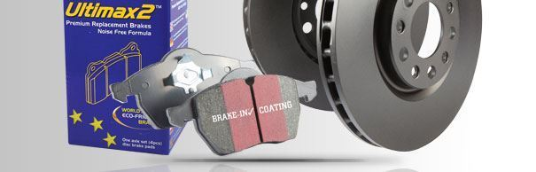 PD40K1080 EBC Front & Rear Brake Kit Ultimax Pads & Standard Discs