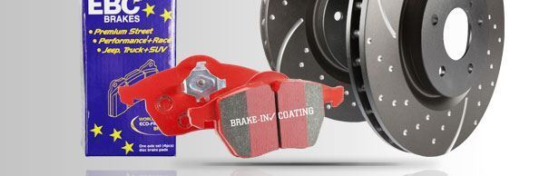 PD12KF166 EBC Front Brake Kit Redstuff Pads & Grooved Discs