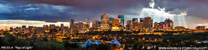 """Rays of Light - Edmonton"" Canvas by Chris Collacott 30% Off!"