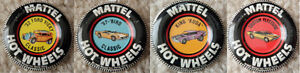 Mattel Hot Wheels Pins/ Badges/ Buttons (1967 - 1969)