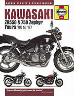Kawasaki ZR550 and 750 Zephyr Fours (90-97) Service and Repair Manual by...