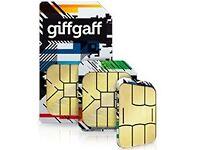 Free give away Giffgaff sim card with £5 credit UK 3 in 1 sim micro nano
