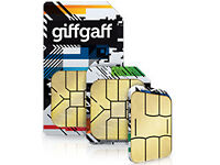 Giffgaff UK 4G SIM Card - £5 Free Credit on first topup
