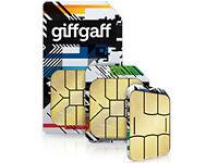 Giffgaff UK 4G SIM Card - £5 Free Credit on first topup