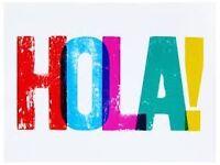 Spanish girl teaching Spanish