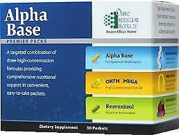Ortho Molecular Alpha Base Premier Packs- 30 packs 8/21