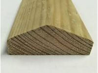 Wooden Fence Cappings Brown/Green