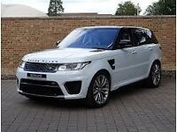 CAR HIRE / RENT RANGE ROVER SPORT & RANGE ROVER VOGUE 2016 WHITE Cheapest in the UK £150