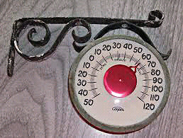Vintage Cooper Outdoor Thermometer works great looks great
