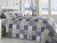 WANTED...WANTED....Penzance blue/cream patchwork bedspread (Dreams 'n Drapes)
