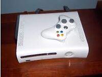 xbox 360 white and silver arcade