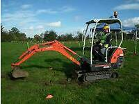MINI / MICRO DIGGER AND DRIVER HIRE NORTHWEST