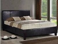 porto leather bed & mattress deal - online only super deals - delivered to you! * new *
