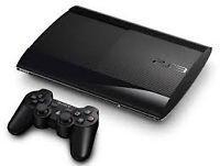 Playstation 3 Super slim + 2 manettes et 8 jeux