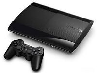 PS3 Super Slim with 3 games in good condition all working over 30 games to choose from
