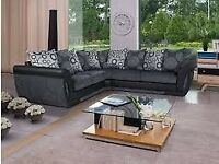 🔵💖🔴LOWEST PRICE IN TOWN🔵💖🔴SHANNON SOFA- NEW FABRIC & FAUX LEATHER SHANNON CORNER/3 2 SEATER