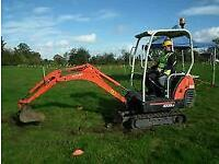 MINI / MICRO DIGGER AND DRIVER HIRE NORTHWEST @ GROUNDWORKS