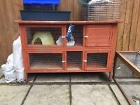 Large Rabbit Hutch & Play Run For Sale