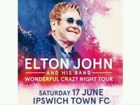 2x Elton John Tickets face value