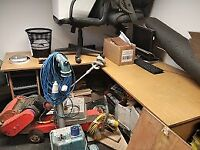 Large Office Corner Desk and 3 Office Chairs