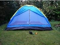 New 4 Man four person camping tent - RRP £40 Festival, Summer, Camping, Garden