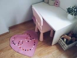 Ikea pink heart rug