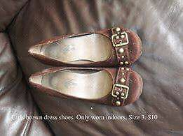 Girls brown dress shoes