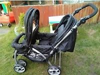 twin/ two person/ double pushchair