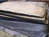 20+ Sheets of 8' x 4' x 19mm Plywood - Fire Damaged Edges, Good Quality Timber Boards