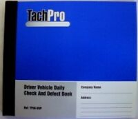 10 Tachpro 50 Page Drivers Daily Duplicate Defect & Check Book 500 Pages - tachpro - ebay.co.uk
