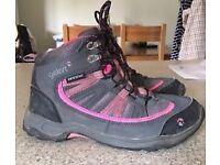 Gelert Ladies black/pink walking boots.