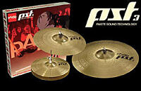 """Drum Cymbals PAISTE pst3 18"""", 16"""", 13"""" upper and lower, 2 Stands"""