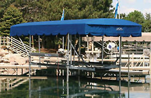 Shorestation 2000 lb boat lift-canopy-air bags great shape