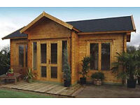 7m x 4.9m log cabin