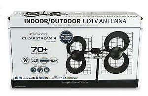 ANTENNAS DIRECT CLEAR STREAM 4V TV ANTENNA FULL HD 70+ MILE RANGE TV ANTENNA