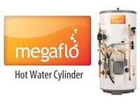 MEGAFLO, UNVENTED HOT WATER CYLINDER INSTALLATION, back boiler removed, combi boiler installation