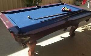 pool table / x 3 cues / balls Adelaide CBD Adelaide City Preview