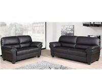 ***SUPER SALE ***BRAND NEW STYLISH CANDY 3+2 SOFA SETS (PU LEATHER) AVAILABLE IN BLACK OR BROWN