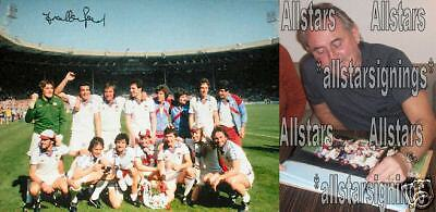 FRANK LAMPARD SIGNED WEST HAM UNITED WEMBLEY 1980 FA CUP FINAL PHOTOGRAPH PROOF