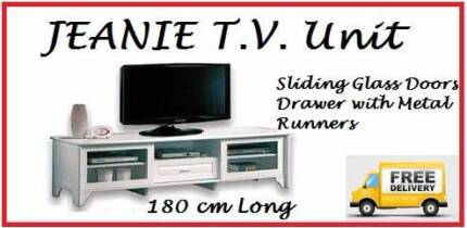 FREE DELIVERY Brand New TV Entertainment Unit 180cm LONG