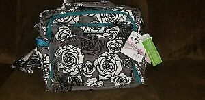 *BRAND NEW* w tags JUJUBE Be Prepared In Charcoal Roses