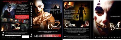 Fear of Clowns 1 & 2 Pack LIMITED DVD Scary Horror B Movie Halloween Shivers - Clown Halloween Movies