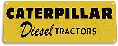 Farm Tractor Sign - Caterpillar Diesel Tractors Garage Farm Equipment Tractor Tin Metal Decor Sign