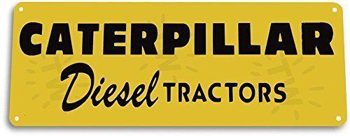 Caterpillar Diesel Tractors Garage Farm Equipment Tractor Tin Metal Decor Sign