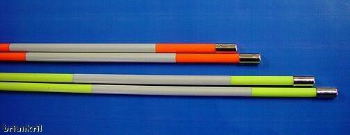 """12 Golf Alignment Sticks Training Aids 48"""" Orange"""