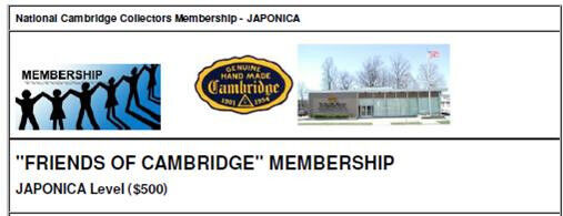 "NCC ""Friends of Cambridge"" Membership - Japonica Level"